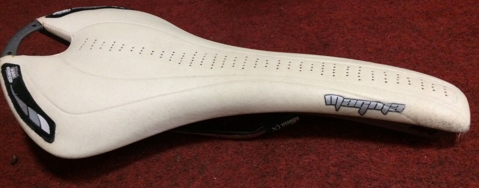 Bike saddle san  marco magma white sleigh titanox bike saddle seat  export outlet