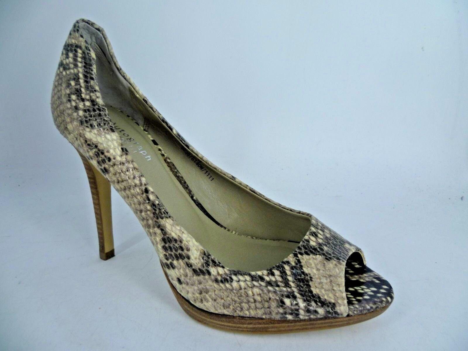Marks & Spencers Wide Fit Fit Fit Peep Toe Snake Print schuhe UK 6 EU 39.5 LN091 GG 09 734b4e