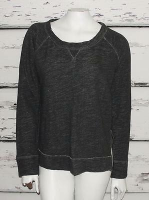 J. CREW~HEATHERED GRAY *METAL ZIPPER* RUNNING GYM SPORTS PULLOVER SWEATER~L