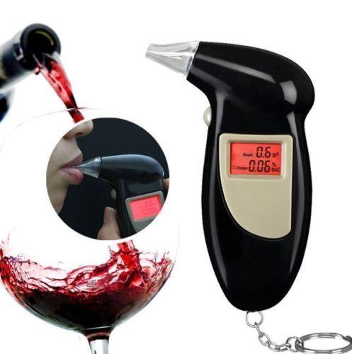 Digital LCD Breath Alcohol Breathalyzer Analyser Tester Test Detector 2Y