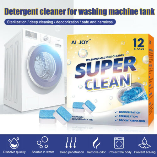 28PCS Washing Machine Cleaning Effervescent Tablets Washer Cleaner Deep Descaler