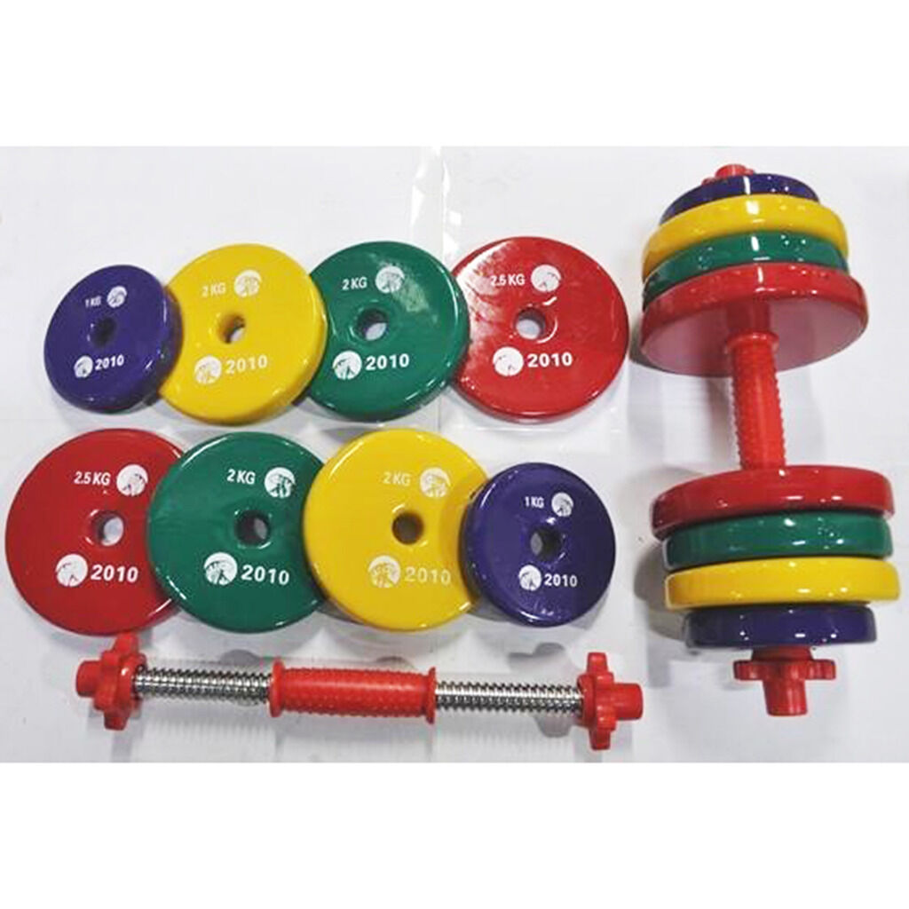 EFL Pair Adjustable Cast Iron Free Dumbells Set Weights Gym Exercise 22 - 66 Lbs