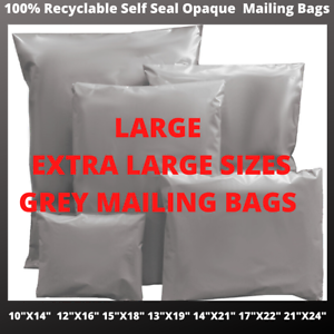 Extra-Large-Self-Seal-Post-Bags-Postage-Grey-Poly-Mailing-Postal-Parcel-Bags