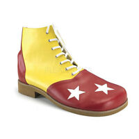 Clown Shoes Yellow Red & White Star Toe Over Sized High Top Comic Costume Shoes