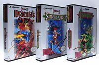 Castlevania 1, 2, 3, 1-3 Nes Custom Game Cases Set - No Games Included