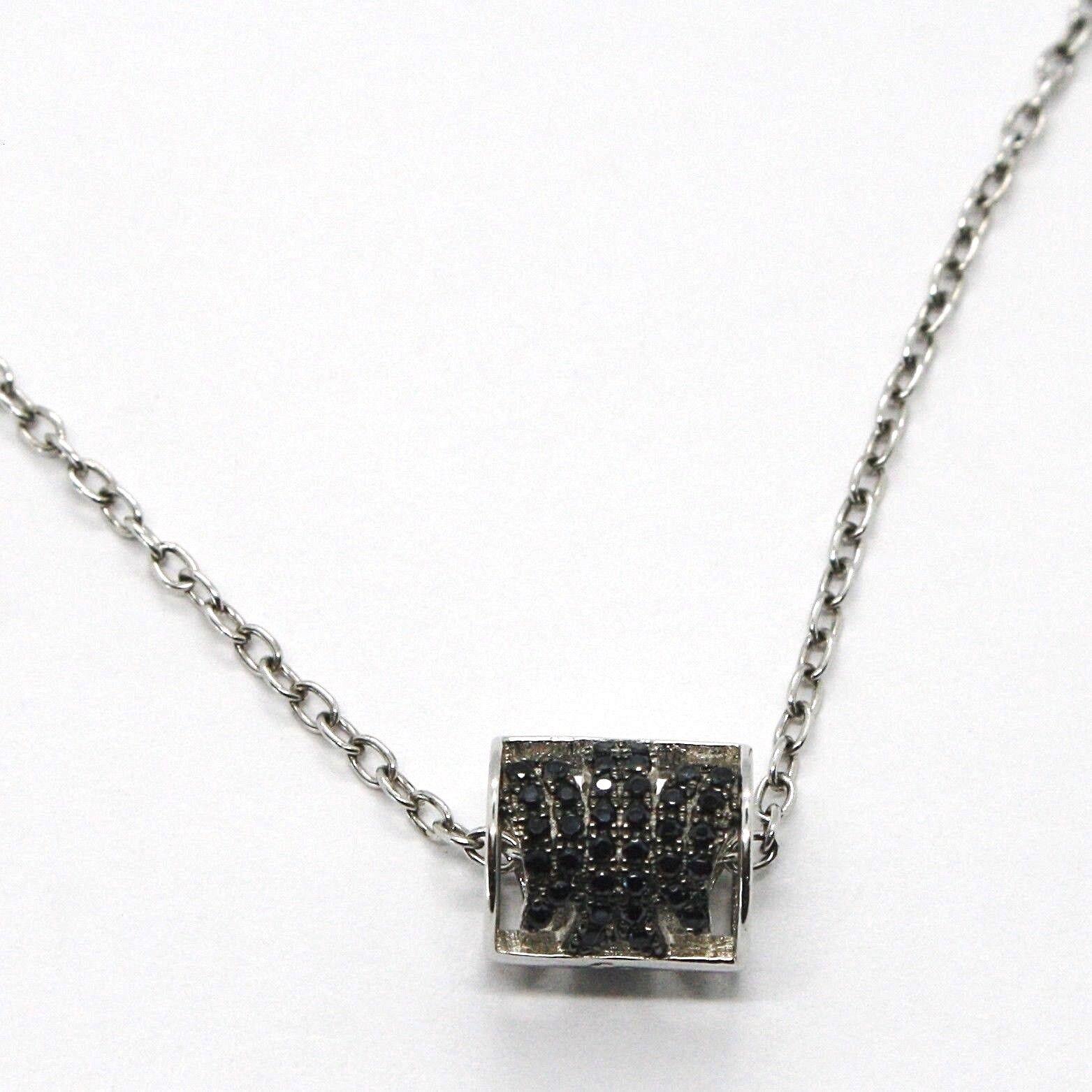 925 silverne Halskette,Schlauch Engel,Zirkonia blacke,Roberto Giannotti,