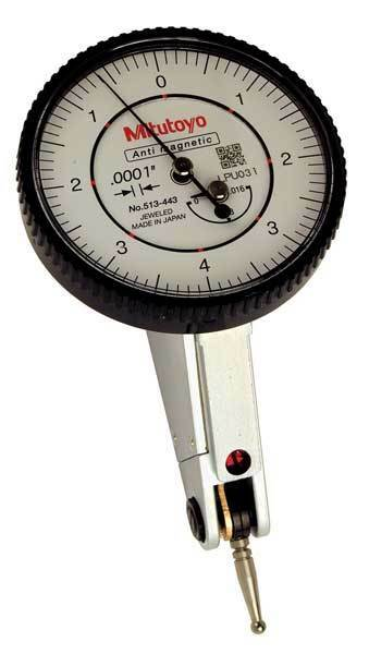 Dial Test Indicator,Hori,0 to 0.016 In MITUTOYO 513-443-10A