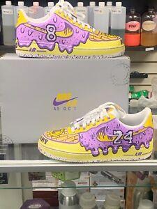 Kobe Bryant Custom Nike Air Force 1 Sizes 7.5-12 White Shoes ...