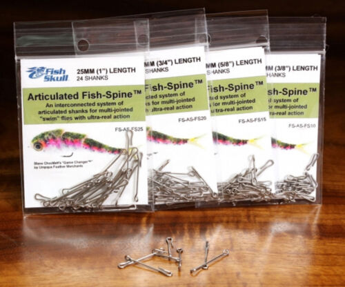 10mm to 25mm packs or Starter Set of shanks FISH SKULL ARTICULATED SPINES