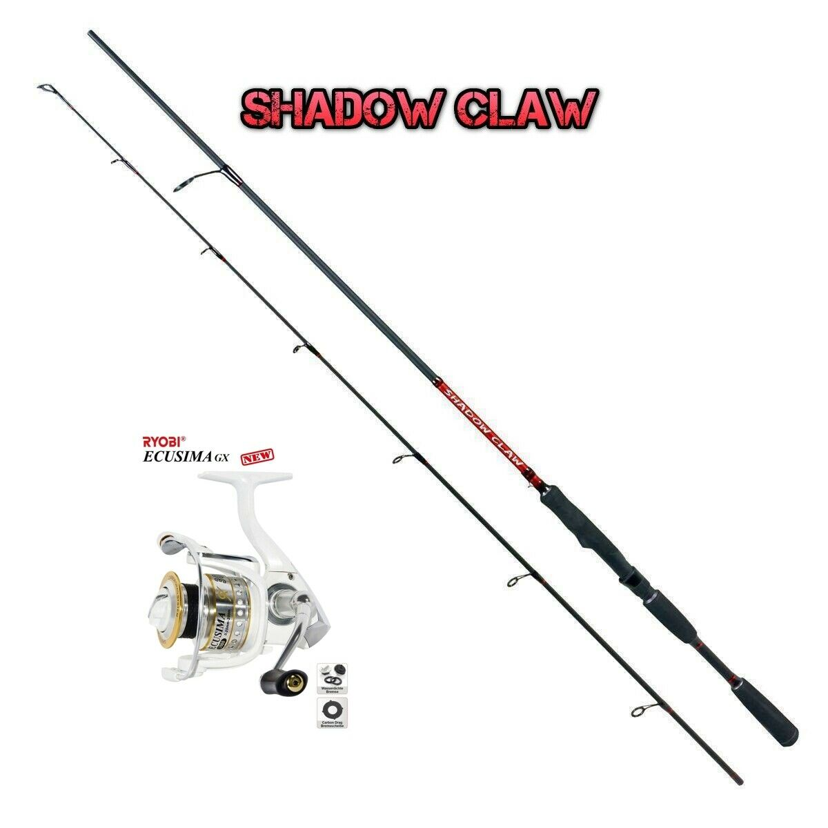 Top Spin Set Ryobi Ecusima GX 4000  Shadow Claw 2,70m 2060g