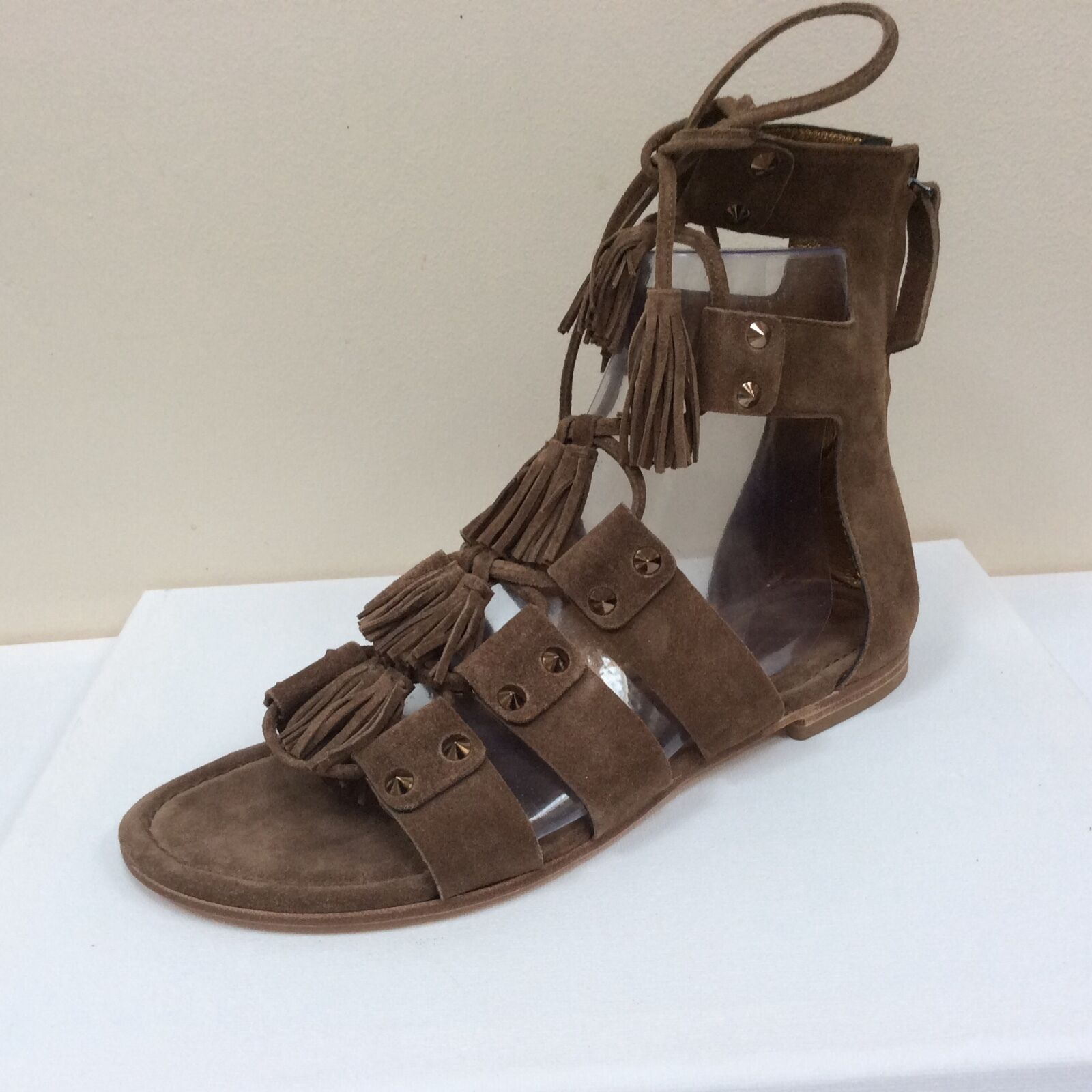 K&S tan suede gladiators with tassel detail,  UK 3/EU 36,   detail, BNWB e5be16