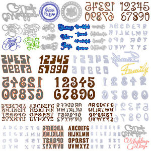 Alphabet Letter A-Z Cutting Dies Stencil DIY Scrapbooking Paper Card Craft TW