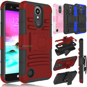 sports shoes f4a4a 092dd Details about For LG K20 Plus / K20 V Case Belt Clip Holster Kickstand Hard  Hybrid Phone Cover