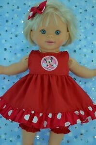 Play-n-Wear-Dolls-Clothes-For-13-034-My-Little-Mommy-RED-DRESS-BLOOMERS-BOW