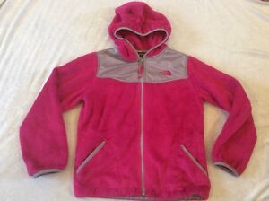 The-North-Face-Oso-Denali-Jacket-Pink-Large-Girls-Fuzzy-Fleece