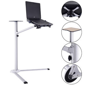 Image Is Loading Laptop Stand  360 Rotating Height Adjustable Tilting Bedside