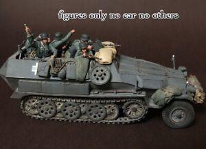 1-35-Resin-German-Panzer-Crew-5-Figures-in-Battle-Unbuild-Unpainted-BL579