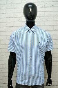 TOMMY-HILFIGER-Uomo-Camicia-Taglia-XL-Maglia-Camicetta-Shirt-Men-Hemd-Righe-Blu