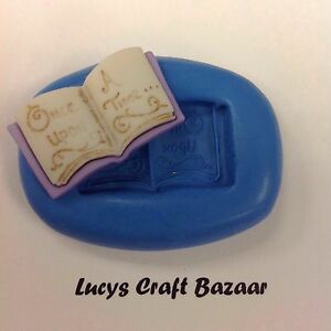 Silicone-Mould-Once-Upon-A-Time-Fairytale-Book-Sugarcraft-Party-CupCake-Topper