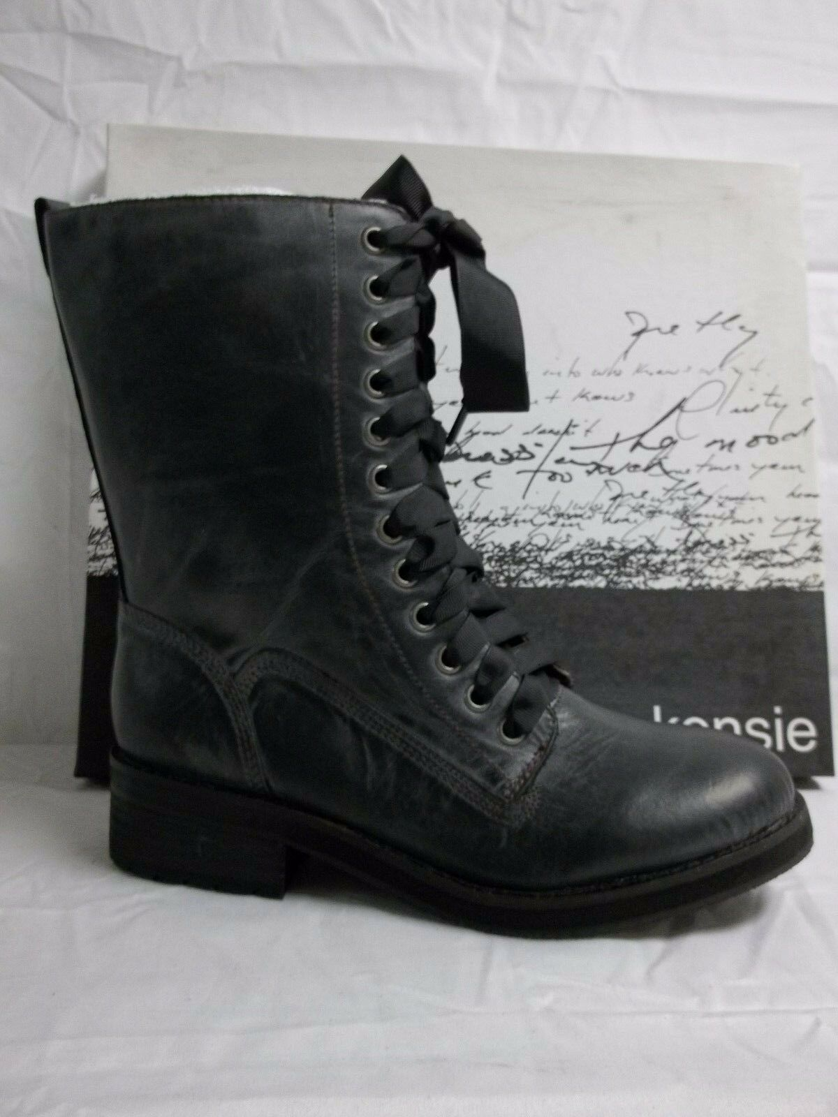 Kensie Size 6 M Boss Black Leather Ankle Boots New Womens Shoes