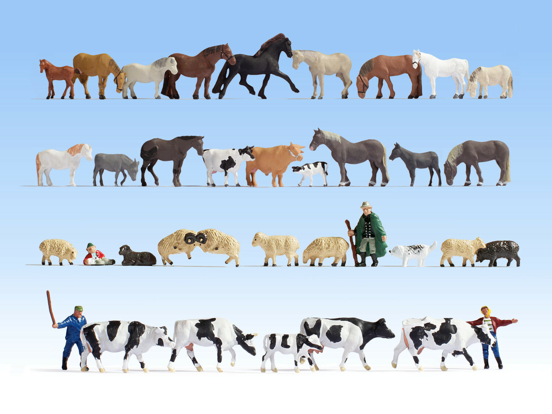 Aún Aún Aún 16049 h0 Mega Spar-set animales 36 personajes + + nuevo con embalaje original + +  edición limitada en caliente