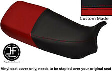 BLACK & DARK RED VINYL CUSTOM FITS HONDA XL 600 V TRANSALP DUAL SEAT COVER ONLY