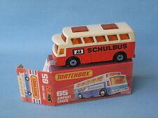 Lesney Matchbox Superfast 65 Airport Coach Schulbus German Rare