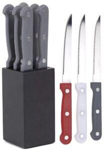 Image Is Loading 6 Piece Steak Knife Set Sharp Stainless Steel