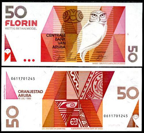 ARUBA 50 FLORIN 1993 P 13 UNC