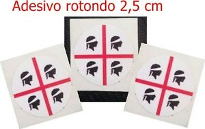Adesivo-4-Mori-Targa-Sardegna-Souvenir-Macchina-Moto-Rotondo-Diametro-2-5-cm