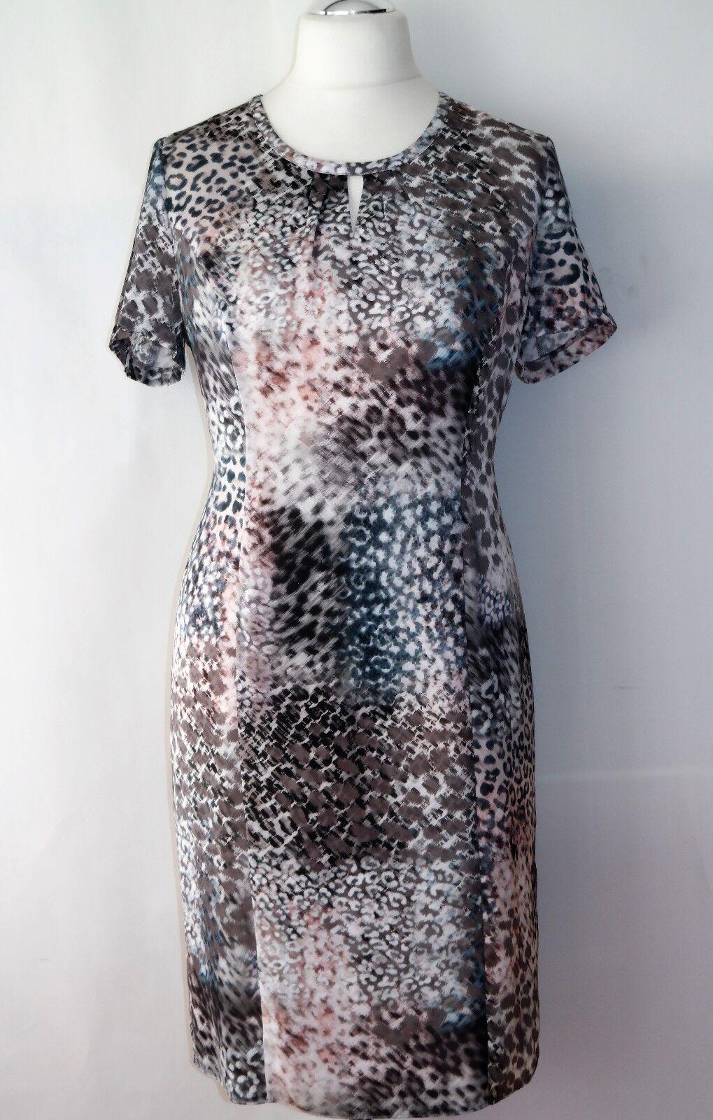 Gerry Weber Satinkleid Satinkleid Satinkleid Gr. 42 OVP  Etuikleid Damenkleid Kleid gepunktet 3d55fa