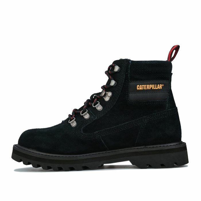 Men's Caterpillar Graviton Suede Breathable Cushioned Boots in Black