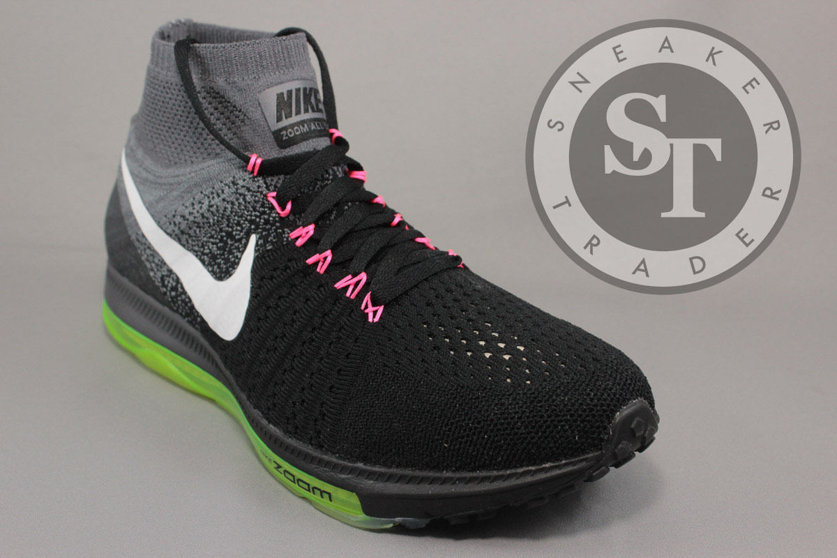 NIKE ZOOM ALL OUT FLYKNIT 844134-002 BLACK WHITE COOL GREY DS SIZE: 8