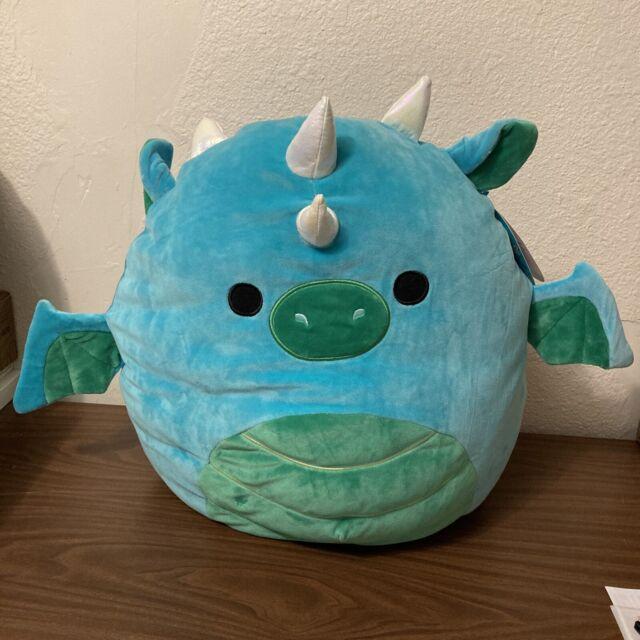 "NEW Squishmallow Dalton 16"" Plush Teal GREEN Blue Dragon Stuffed Pillow Animal"
