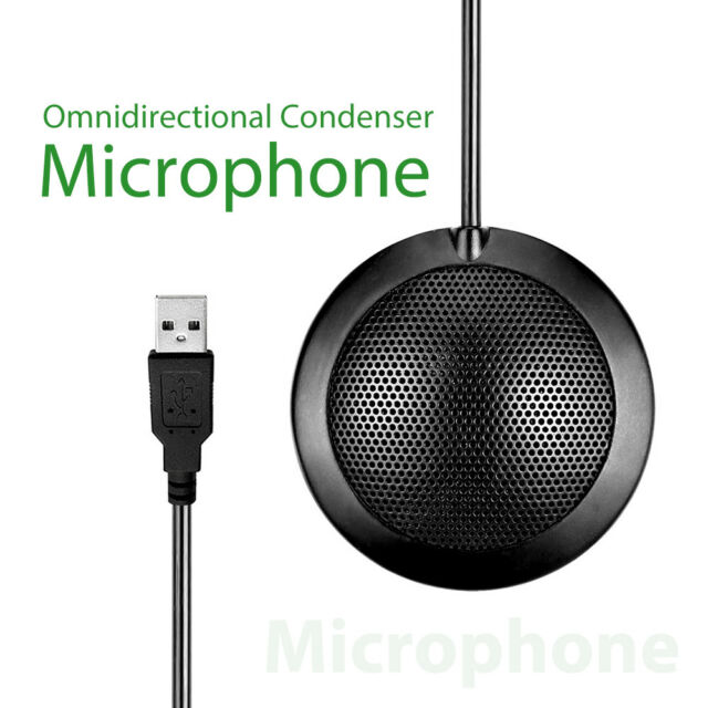 360° Omni-Directional Stereo Microphone USB Interface for Computer For Meeting