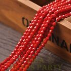 New 200pcs 4mm Bicone Faceted Lustrous Loose Spacer Glass Beads Red