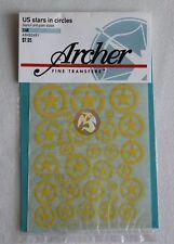 Archer 1/48 US AFV Vehicle Stars in Circles (Plain & Stencil) (Yellow) AR48048Y