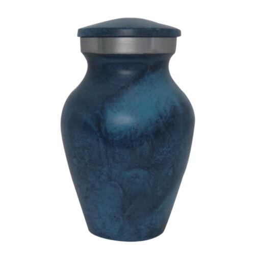 Aluminium Deep Blue Keepsake Urn for Ashes Best Price Mini Urn