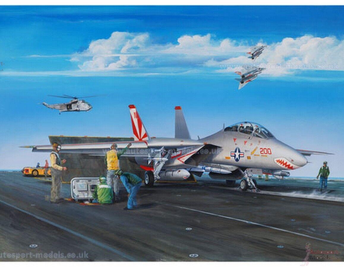 1/32 Escala Kit Modelo Grumman F-14A Tomcat de trompetista