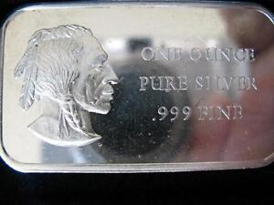 1.OZ..999 RARE DETAILED SILVER AMERICAN INDIAN BAR 1776 1976 BI-CENTENNIAL +GOLD
