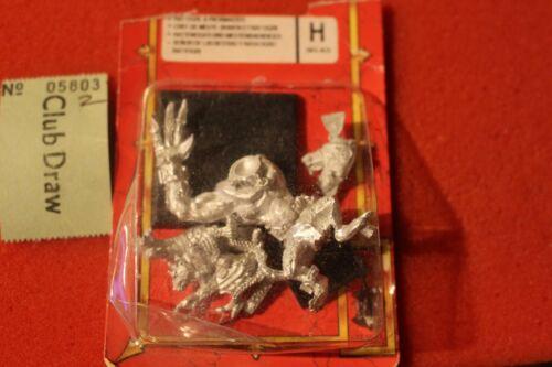 Games Workshop WARHAMMER SKAVEN RATTI agli Orchi Ogre con pacco Master in metallo NUOVO fuori catalogo B2