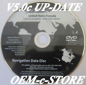 Gm United States Canada Map Disc 2006 2006 2007 2008 2009 2010 2011 Cadillac DTS Navigation DVD Map Disc