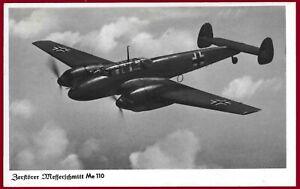 German WW 2 Third Reich postcard LUFTWAFFE Messerschmitt Me 110