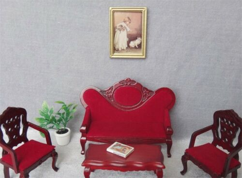 1:12 Dolls House Miniature Frame Art Wall Picture Painting Mural Accessory Decor