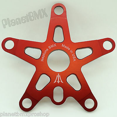 Neptune BMX Old school power disc 110mm//130mm bcd made in the USA RED