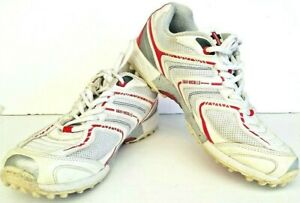 Gray-Nicolls-Mens-Rubber-Sole-Cricket-Shoes-White-Indoor-Spikeless-Size-US-7