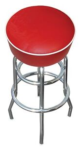 Red-Bar-Stool-Stools-Counter-Top-Chair-Seat-Rec-Room-Kitchen-Awesome-NIB