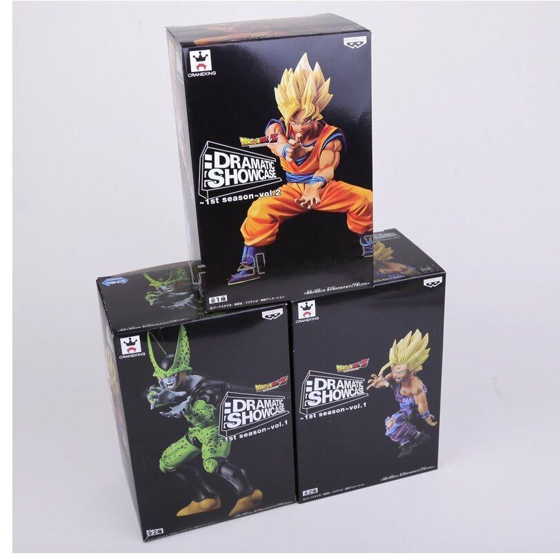 Set 3 figuras DRAGON BALL Z  Dramatic Showcase Gohan Goku Super Saiyan & Cell