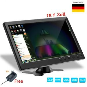 10.1'' Auto Monitor HD Mini TV Computer 1080P LCD CCTV mit HDMI BNC AV VGA 12V