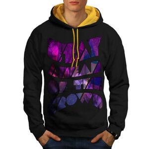 Wellcoda Kleidung & Accessoires Gelernt Geometric Unique Wellcoda Men Contrast Hoodie New Sport-kapuzenpullis & -sweatshirts